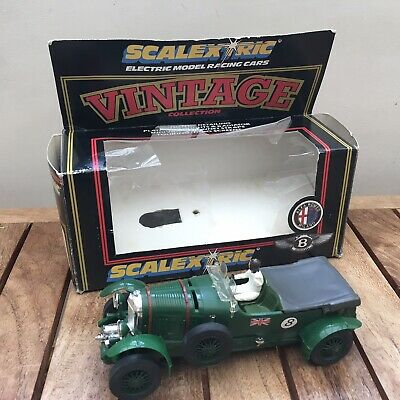 Vintage Scalextric Car C305 4.5 Litre Bentley Green Boxed  • 26.66£