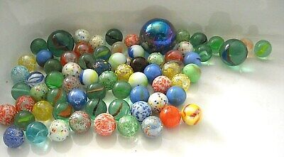 Old & Vintage Glass Marbles 65+ All Colours & Sizes • 20£