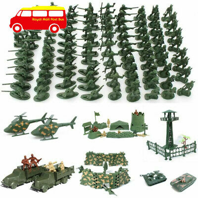Military Plastic Toy Soldiers Army Men Figures 12 Poses Gift • 4.93£