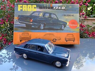 Vintage 1960's Frog Motorized Ford Consul Cortina 1/16th Scale Assembled Model. • 16.66£