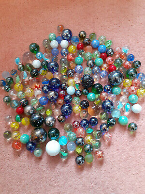 Vintage Glass Marble Collection Job Lot Marbles Swirls Clear Agate ... 150+ • 6.50£