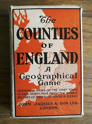 John Jaques & Son Ltd The Counties Of England Card Game - Good Pack • 19.95£
