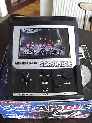Grandstand Scramble Vintage Mini Arcade Space Action Game Working Boxed • 1.20£