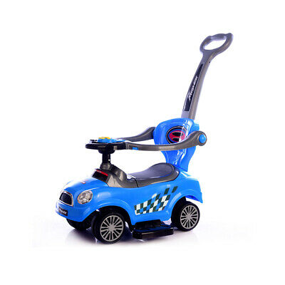 3 In 1 Ride On Push Car Music Safety Barrier Pushing Along Baby Toddler Car Toy • 29£