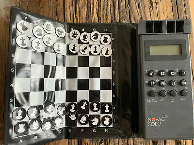 Vintage Novag Solo Chess Game With Full Set Of Pieces • 25£