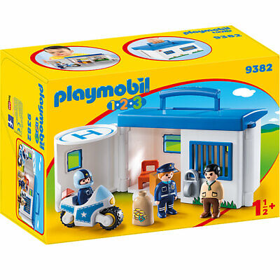 Playmobil 1.2.3 Take Along Police Station 9382 • 30.95£