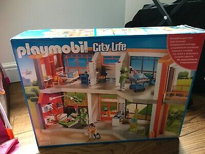 Playmobil 6657 City Life Furnished Children's Hospital With Extra Playmobil • 18.30£