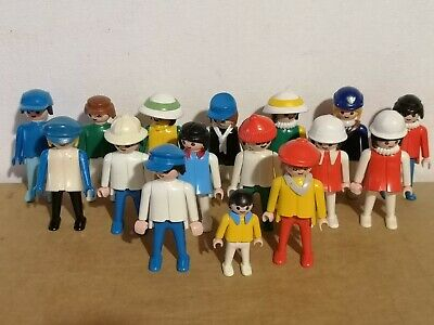 Vintage Playmobil Geobra Job Lot Of 16 Figure's, 1974 • 11.99£