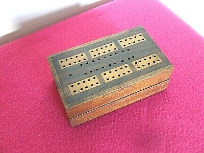 Vintage Wooden Cribbage Board Doubles As Card Case. • 6.60£