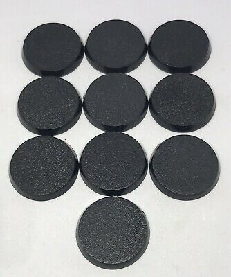 32mm Round Bases X10 - Ideal For Warhammer 40K, Age Of Sigmar And Wargamming • 2.50£