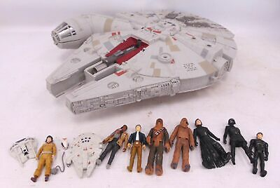 Collection Of Modern HASBRO STAR WARS TOYS Inc Millennium Falcon/ Figures - Y99 • 4.99£