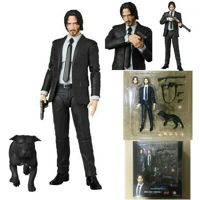 UK Mafex 085 John Wick Chapter 2 Dog PVC Action Figure W/Box Collection Toy Gift • 23.96£