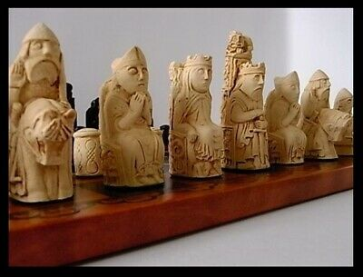 The Medieval Style Isle Of Lewis Style Chess Set Chessmen Game Pieces Fabulous  • 7.50£