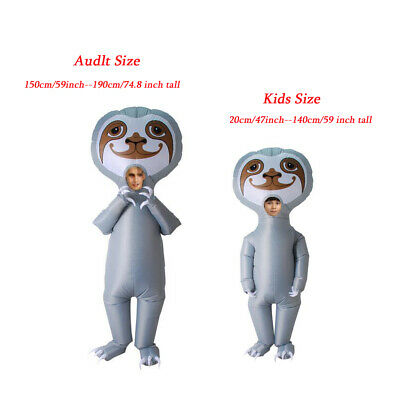 New Inflatable Costume Adult Kids Sloth Funny Fancy Dress Stag Party Halloween • 26.99£