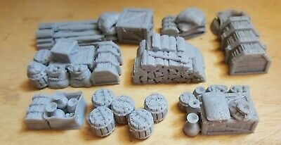 28mm Cargo Props For Ships And Wagons,Scatter, Terrain, Scenery For Wargames, • 8£