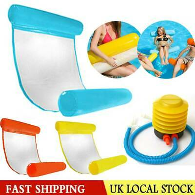 Inflatable Floating Water Hammock Float Pool Lounge Bed Swimming Chair UK • 7.99£
