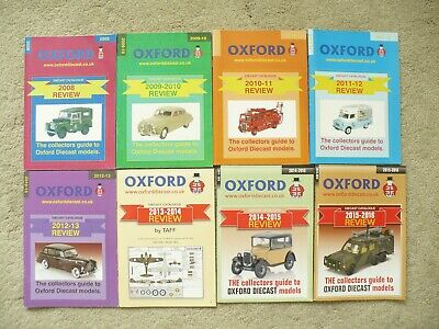 8 X Oxford Diecast Models Collectors Guide - Oxford Diecast Catalogue 2008/2016 • 8.95£