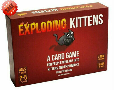 Red Exploding Kittens Card Original /NSFW Edition Adult Party Game New & Sealed • 7.95£