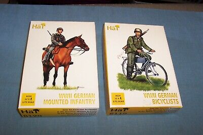 Hat 1/72 Ww2 German Bicyclists And Mounted Infantry 8119 8120 • 9.99£