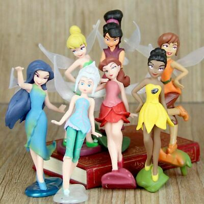 Tinkerbell Fairies Wing Fairy Playset 7 Action Figure Cake Topper Toy Doll Set • 7.58£