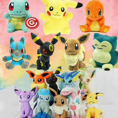 Rare Pokemon Collectible Plush Doll Character Soft Toy Stuffed Teddy Xmas Gift • 5.99£