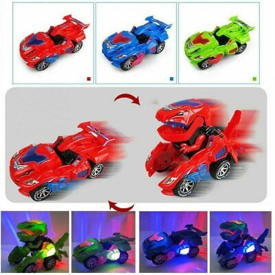Transforming Dinosaur LED Car T-Rex Toys With Light Sound Kids Electric Toy UK • 9.99£