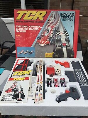TCR Total Control Racing Indy Jam Circuit 3 Car System Vintage And Complete • 29.99£