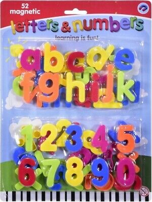 52pc Magnetic Plastic Letters & Numbers Early Days Learning Quality Product UK  • 4.99£