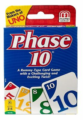 Phase 10 Family Card Game A Rummy Type Game From The Makers Of UNO UK SELLER • 2.99£