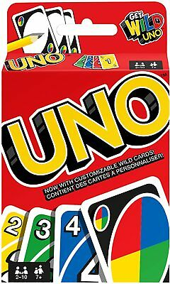 UNO CARD GAME With WILD CARDS Latest Version Indoor Party Family Fun Matte UK • 2.99£