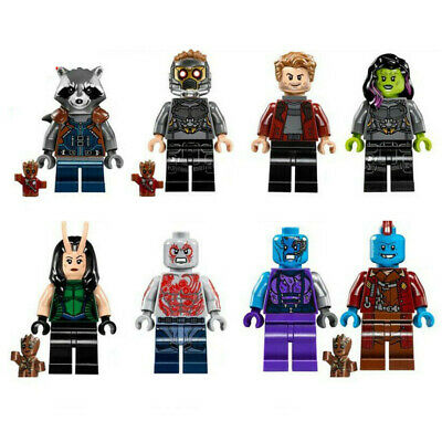 8PCS/Set Guardians Of The Galaxy Mini Figures Building Blocks Fit Lego Toys Gift • 6.78£