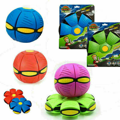 Novelty Flying UFO Flat Throw Disc Ball Toy Phlat Soft Kids Outdoor UK • 7.39£