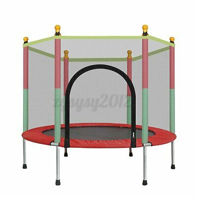UK Kids Indoor Mini Trampoline Child Playing Jumping Bed Exercise Enclosure Pad • 43.30£