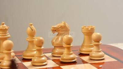 Contemporary Staunton Weighted Chess Pieces & Board Combo In Padauk Wood - 3.0  • 259.90£