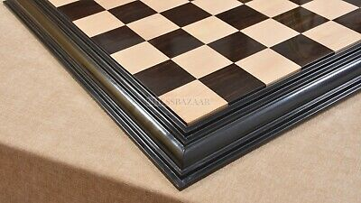 CHESSBAZAAR Luxury Handmade Solid Chess Board Ebony Box Wood - 21  -55 Mm Square • 303.99£