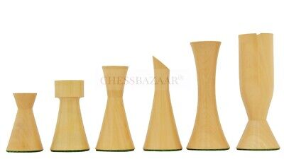 Minimalist Midnight Contemporary Chess Set In Ebonized Boxwood & Boxwood - 3.5  • 75.99£