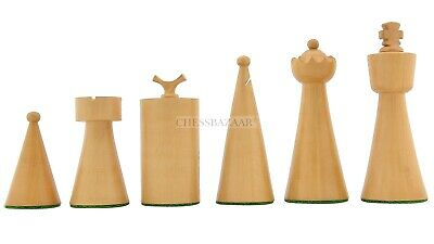 Chessbazaar 1940 Art Deco Weighted 34 Chess Pieces Ebonized & Boxwood 3.8  King • 98.79£