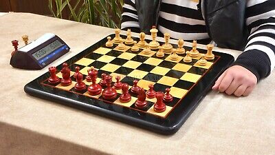 Combo Of Repro 1930 German Knubbel Analysis Chess Set/Wooden Board Ebony Wood 3  • 268.26£
