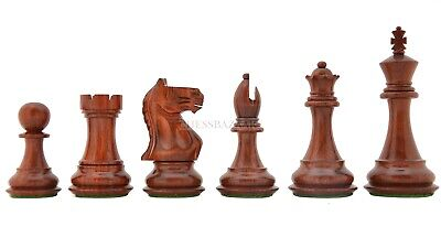 Fierce Knight Staunton Double Weighted Chess Pieces In Padauk/Boxwood 4.0  King • 188.47£