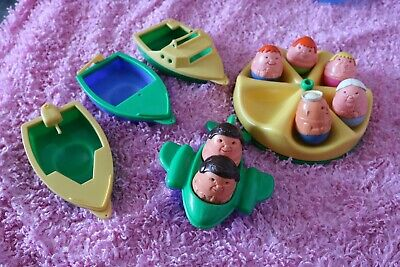 Vintage Weebles 1970's Plane/boats Roundabout And Weebles • 35£