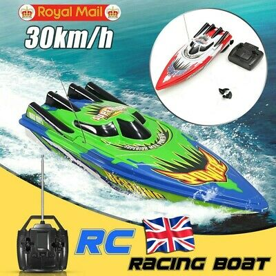 Remote Control Twin Motor High Speed Boat RC Racing Outdoor Toys With Radio New • 12.99£
