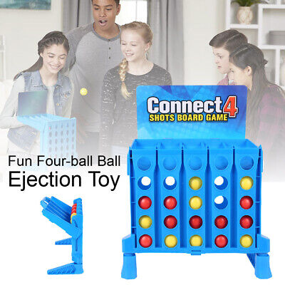 Connect 4 Shots Game Toys Gift Bounce Em In 4 The Win Kids Family Office Toy UK • 13.67£