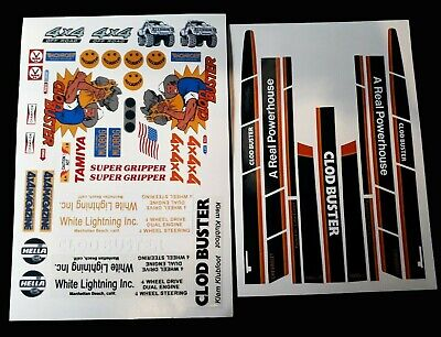 Clod Buster 1/10 RC Stickers Decals Sheet Precut Customized Vintage 90s • 14.99£