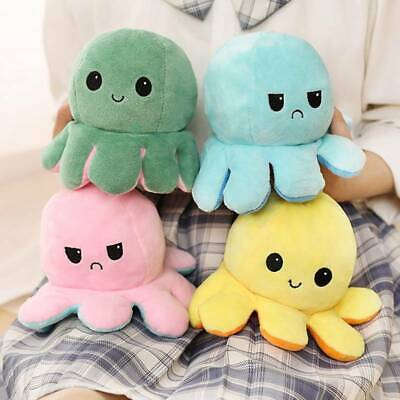 Double-Sided Flip Reversible Octopus Plush Toy  Squid Stuffed Doll Toys UK Chic • 5.79£