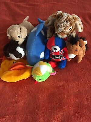Selection Of 7 Soft Toys . Age 4+ • 3£