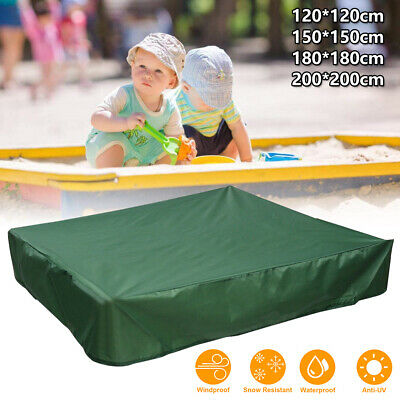 Sandpit Cover Bench Seat Ball Sand Oxford Waterproof Pit Sandbox Square Kids New • 8.99£
