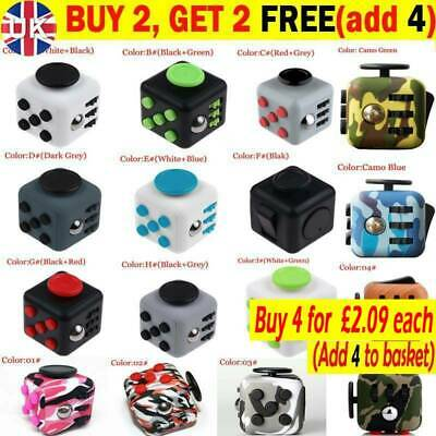 Fidget Cube Spinner Toy Children Desk Adults Stress Pressure Relief Cubes NV UK • 4.45£