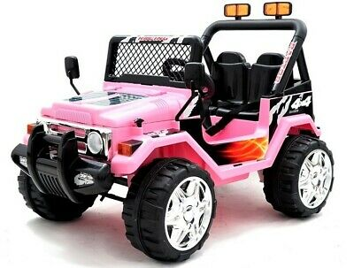 Kids 2 Seater 12v Electric / Battery Ride On Electric Jeep 4x4 Pink • 157.95£