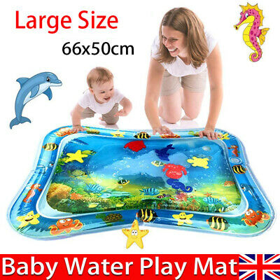 Inflatable Water Play Mat Infants Baby Toddlers Kid Perfect Fun Tummy Time 66X50 • 5.89£