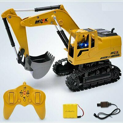 Remote Control Digger Truck 11Ch Toy RC Excavator Radio Controlled Construction • 20.99£